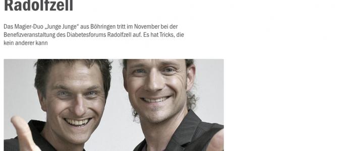 Südkurier: Magier Duo aus Böhringen zaubert bei Gala in Radolfzell